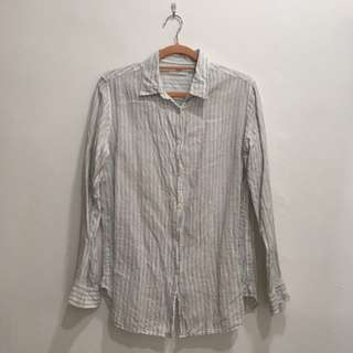 Uniqlo French Linen Long Sleeves Shirt