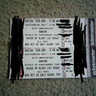 2 hanson tickets