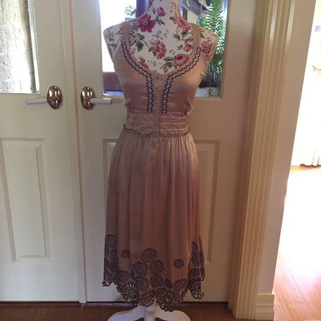 100% Silk Cream Dress