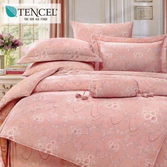 【樂】100%天絲TENCEL 雙人/雙人加大/特大 40支天絲 四件式鋪棉兩用被套床包組&鋪棉兩用被套床罩組(貝里尼)