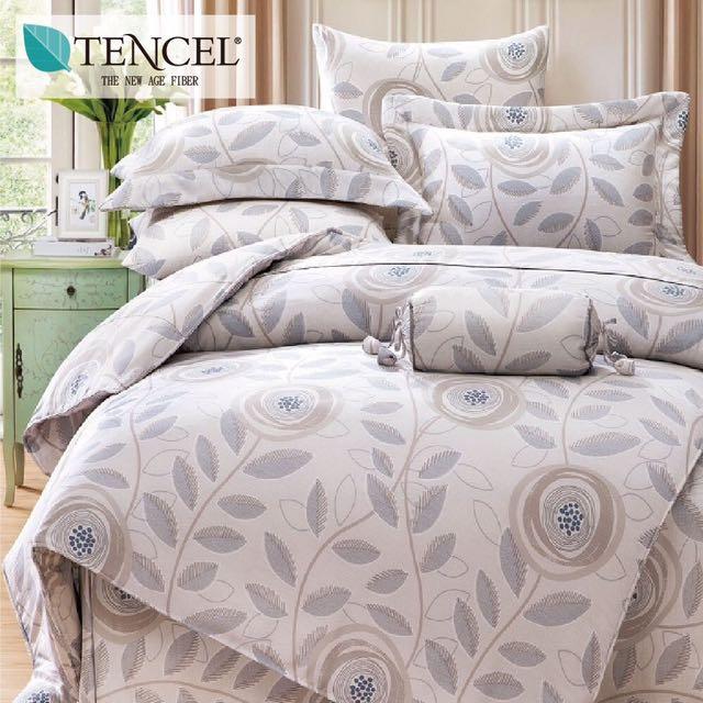 【樂】100%天絲TENCEL 雙人/雙人加大/特大 40支天絲 四件式鋪棉兩用被套床包組&鋪棉兩用被套床罩組(寄語)