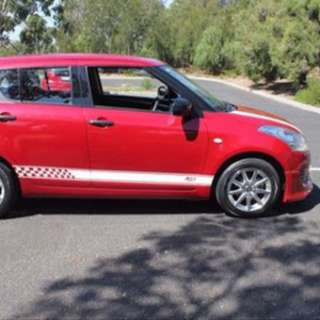 Suzuki swift BLACK RE1 Stripes