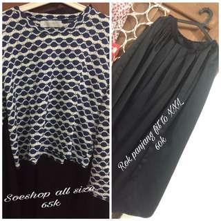 Baju soeshop+flare skirt
