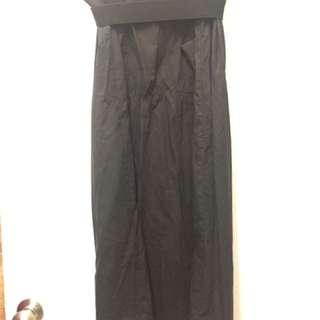花苞設計黑長裙
