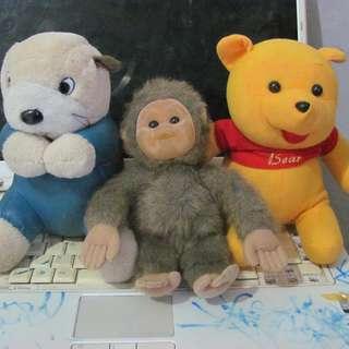 Boneka borongan dijual 3 pcs
