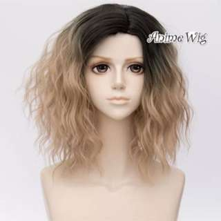 Black into blonde 35cm wig