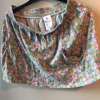 Zara TRF Floral skirt