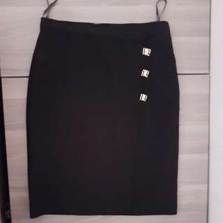 Bysi black work skirt