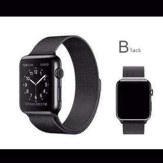 Strap Iwatch Apple Watch 42mm Milanese Loop Stainless Steel Black