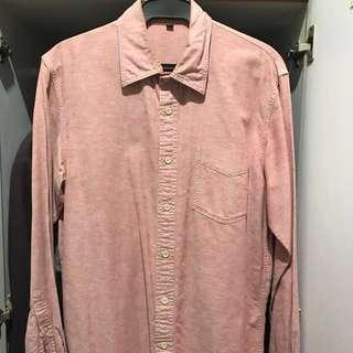 Muji Oxford Button Down Shirt (red)