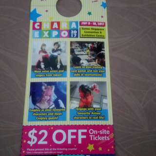 Chara Expo $2 Off Thinghy