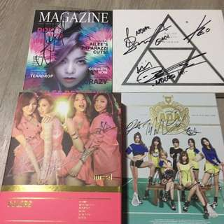 Assorted Signed Kpop Albums