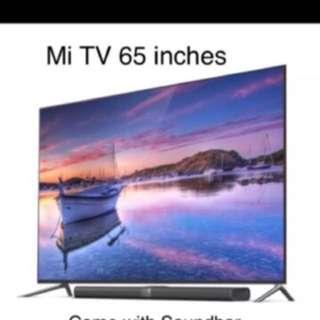 Brand New Xiaomi TV 3S 65 inches 4k Smart TV DVBT2 Box
