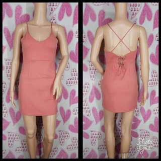Salmon Pink Sexy Dress