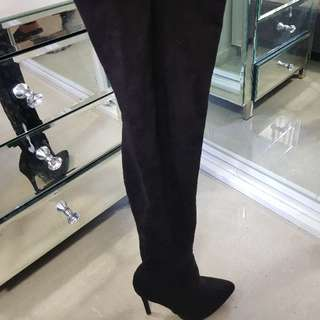 Misguided Sz 7 Thigh High Boots
