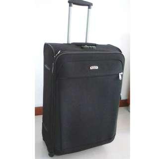 """Black Swiss Polo 4 Wheel Luggage - 31"""" - 77cm x 47cm x 27cm @S$55 Only"""