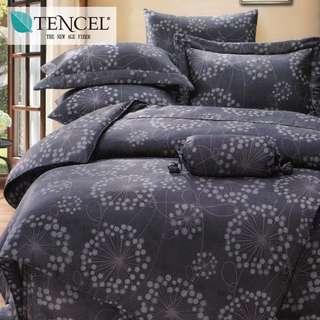 【樂】100%天絲TENCEL 雙人/雙人加大/特大 40支天絲 四件式鋪棉兩用被套床包組&鋪棉兩用被套床罩組(帕洛瑪)