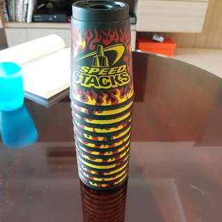 speed stacks black flames