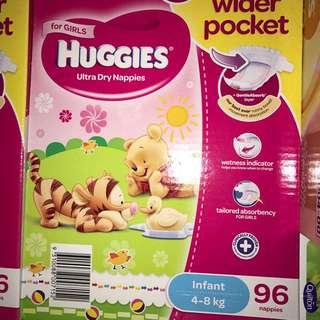 Huggies / 4-8kg /96 nappies