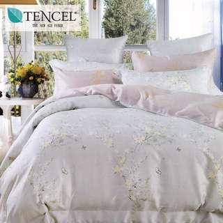 【樂】100%天絲TENCEL 雙人/雙人加大/特大 40支天絲 四件式鋪棉兩用被套床包組&鋪棉兩用被套床罩組(靜沫)