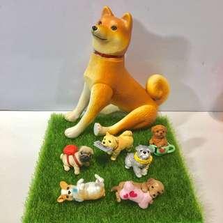 早期絕版日本盒玩💕可愛動物🐶柴犬 雪納瑞 貴賓 臘腸