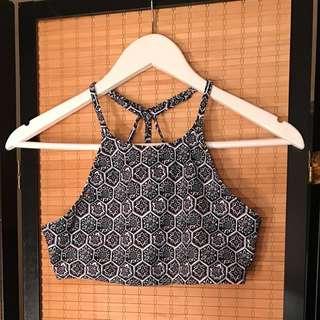 Geometric Print Bikini Top