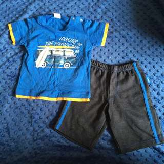 (NEW) Tollyjoy Baby Shirt And Short Pants