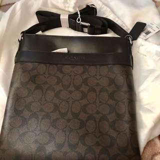 Authentic Coach bag for men with price tag