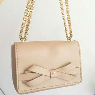 CH CAROLINA HERRERA : MASA BOW BAG BEIGH