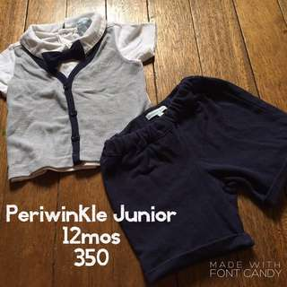 Periwinkle Junior Polo, Vest and Short Set