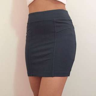 green bardot mini skirt