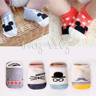 Lovelybaby✨ 韓版 兒童襪子 寶寶襪子 可愛卡通 迪士尼 米奇 寶寶襪子 0-1歲 現貨