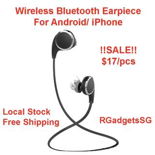 Wireless Bluetooth Earpiece Earphone Charging Wireless Bluetooth Ear piece