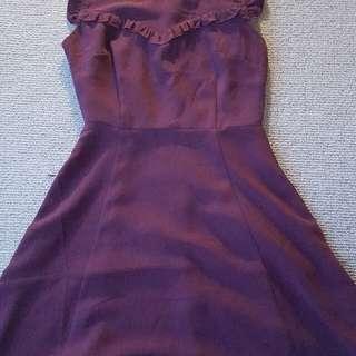Princess Highway Maroon Dress Size 8