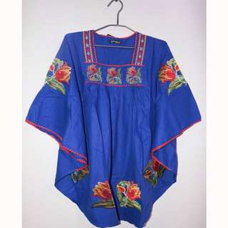 Blue Embroidery / Bordir Top