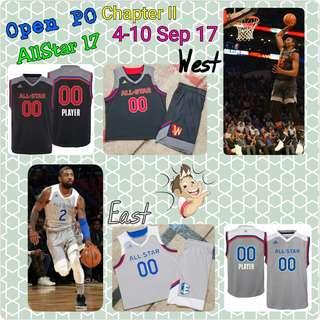 Open PO Jersey Basket Anak2 Dewasa Custom, ALLSTAR 2017 East & West