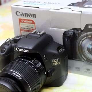Canon EOS 550D 18 MP  with EF-S 18-55mm f/3.5-5.6 IS Lens Hd video DEMO/DISPLAY unit