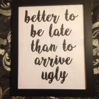 Wall Art Quote Framed!🎨