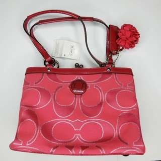Red Coach Hand Bag