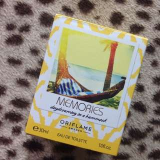 EDT ORIFLAME MEMORIES DAYDREAMING IN A HAMMOCK
