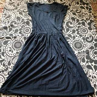 3 For $10 FREE Mail! Blue Basic 3/4 Dress