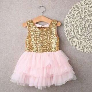 Gold-sequinned Gown