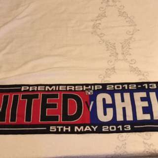 Man utd vs Chelsea 12/13 scarf