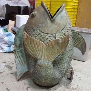 Fish statue .
