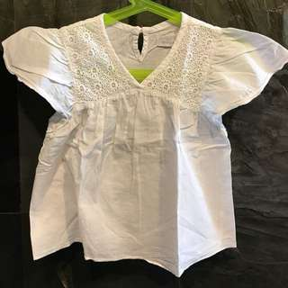 Preloved Gingersnaps white cotton top