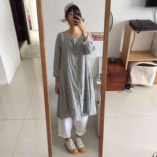 Samansa Mos2日本品牌兩穿式洋裝