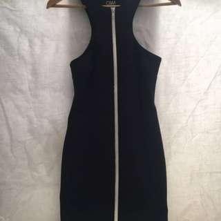 C&M black dress, scuba, Camilla and Mark