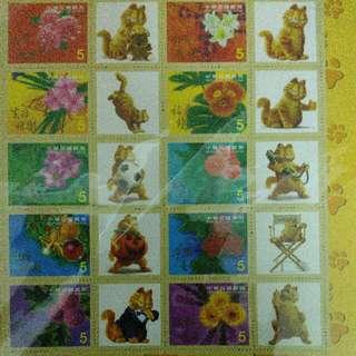 加菲貓。郵票