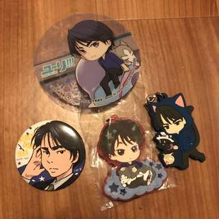Yuri on ice! Seung-Gil Lee Charm and Badge Bundle