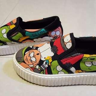 Children Slip On Shoes (Cartoon Design)